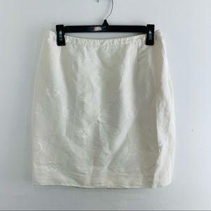 VTG Gianni Versace Couture White Medusa Mini Skirt